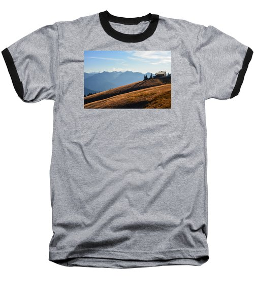Baseball T-Shirt featuring the photograph Evening Light by Ronda Broatch