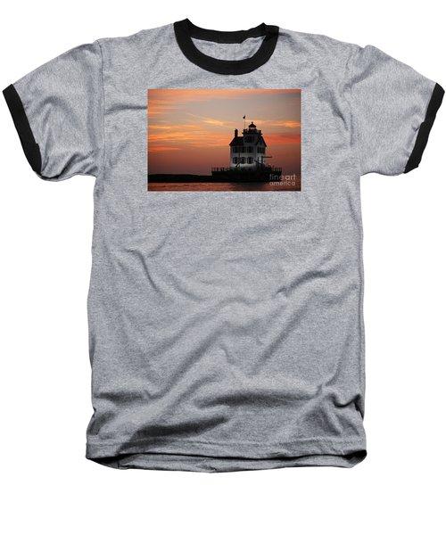 Evening Lighthouse 5 Baseball T-Shirt