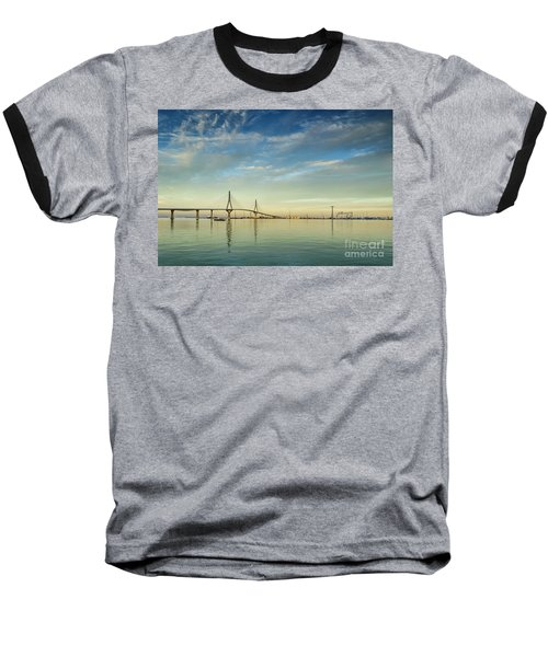 Evening Lights On The Bay Cadiz Spain Baseball T-Shirt