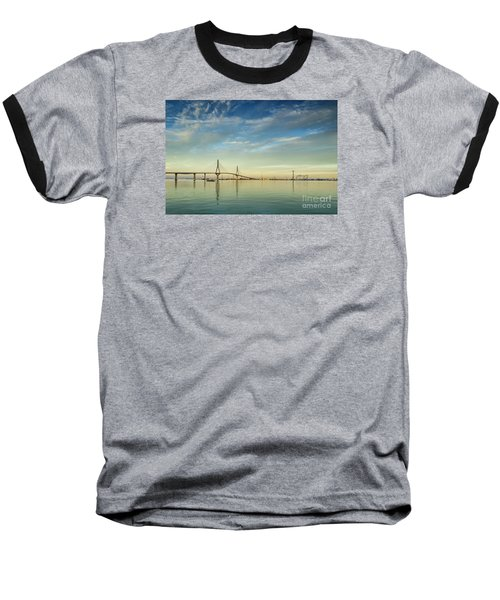 Evening Lights On The Bay Cadiz Spain Baseball T-Shirt