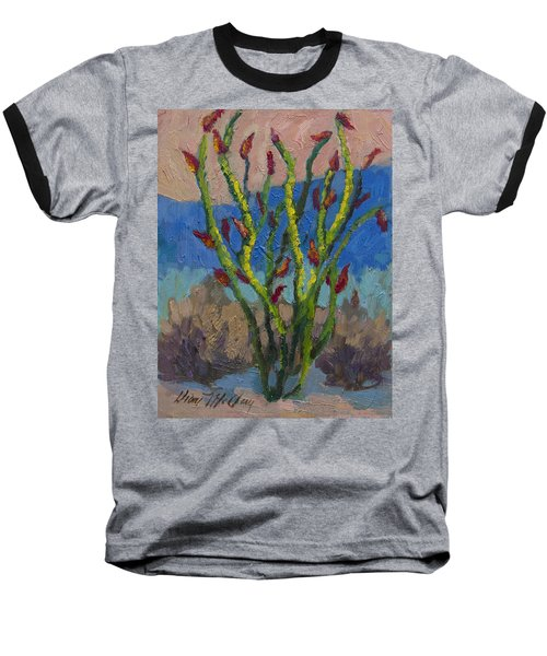 Evening Ocotillo Baseball T-Shirt by Diane McClary