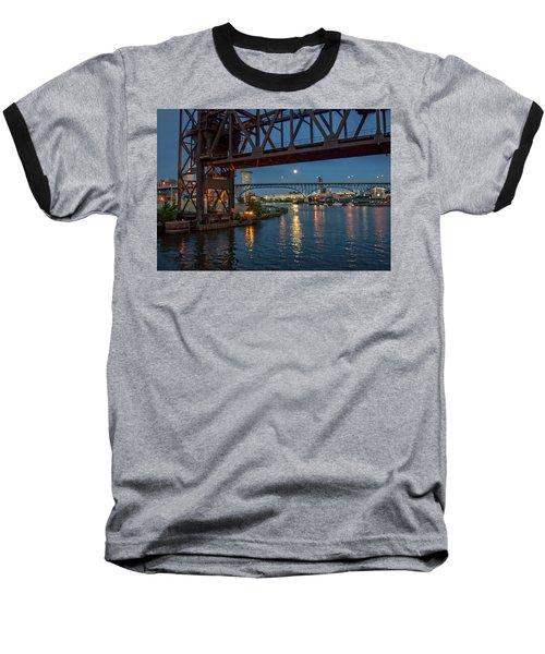 Evening On The Cuyahoga River Baseball T-Shirt