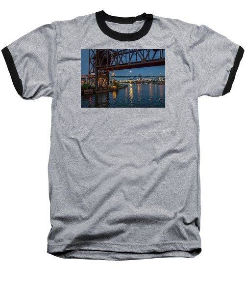 Evening On The Cuyahoga River Baseball T-Shirt