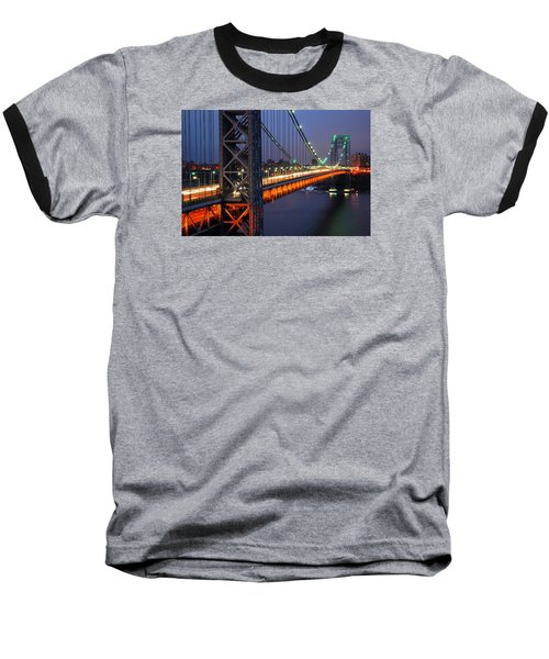 Evening On The George Washington Bridge Baseball T-Shirt