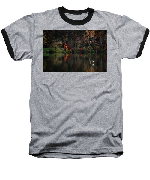Baseball T-Shirt featuring the photograph Evening On The Lake by Rowana Ray