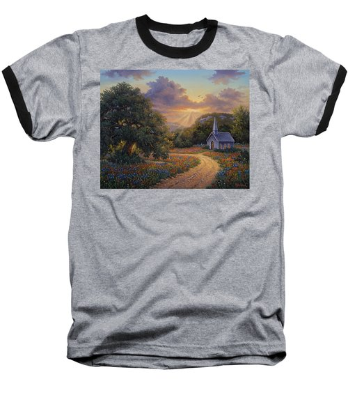 Evening Praise Baseball T-Shirt by Kyle Wood