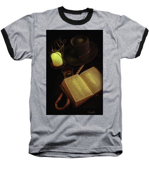 Baseball T-Shirt featuring the photograph Evening Reading by Ann Lauwers