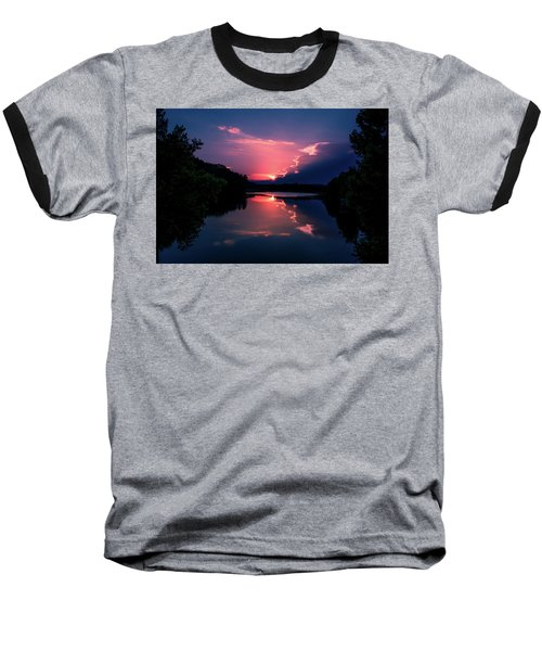 Evening Reflection Baseball T-Shirt