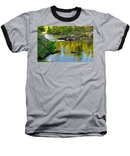 Evening Reflections At Lower Basswood Falls Baseball T-Shirt