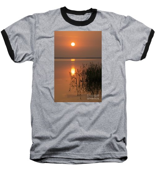 Baseball T-Shirt featuring the photograph Evening Reflections by Inge Riis McDonald