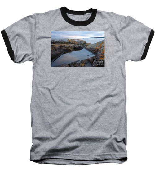 Baseball T-Shirt featuring the photograph Evening Reflections by Sandra Updyke