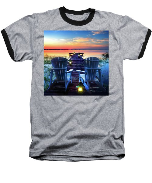 Baseball T-Shirt featuring the photograph Evening Romance by Debra and Dave Vanderlaan
