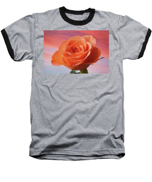 Baseball T-Shirt featuring the photograph Evening Rose by Terence Davis