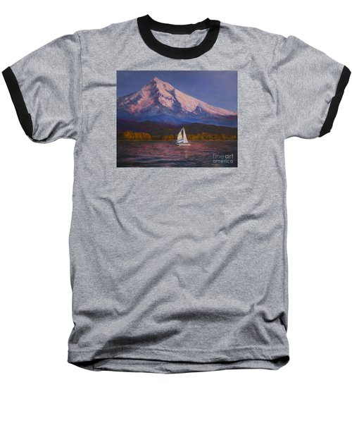 Evening Sail Baseball T-Shirt by Jeanette French