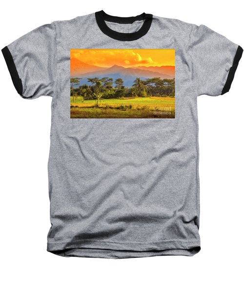 Baseball T-Shirt featuring the photograph Evening Scene by Charuhas Images