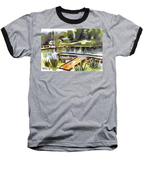 Evening Shadows At Shepherd Mountain Lake Baseball T-Shirt