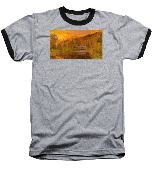 Evening Shadows II Baseball T-Shirt by John Selmer Sr