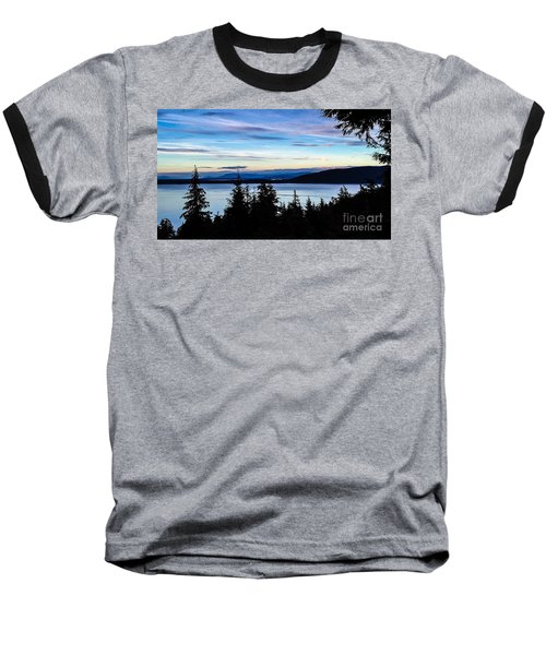 Evening Sky Baseball T-Shirt by William Wyckoff