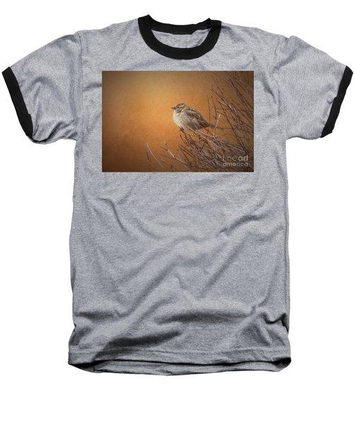 Evening Sparrow Song Baseball T-Shirt