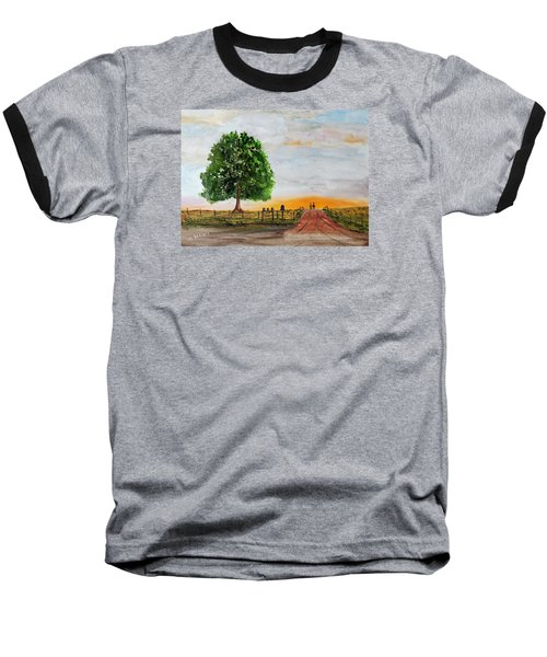 Baseball T-Shirt featuring the painting Evening Stroll by Jack G Brauer