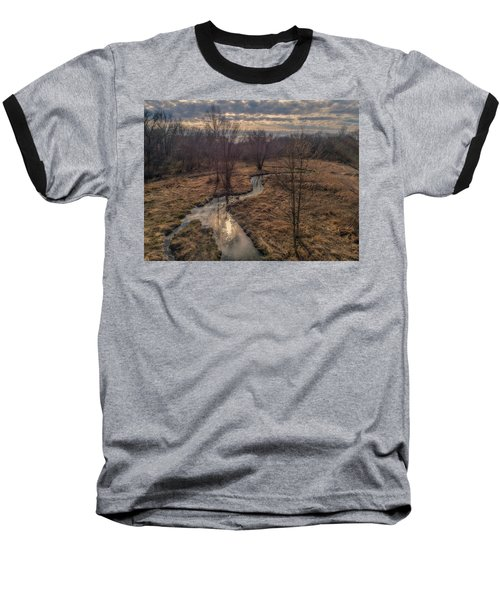 Evening Sun On The Creek Baseball T-Shirt
