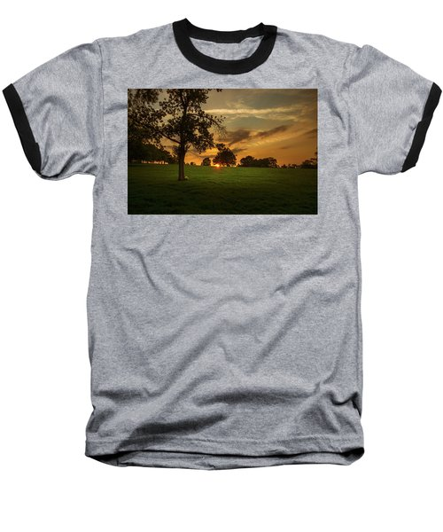 Evening Sun Over Brockwell Park Baseball T-Shirt by Lenny Carter