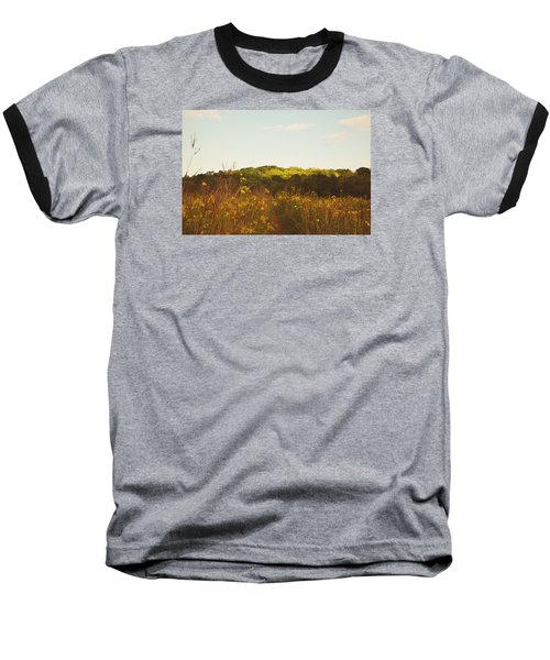 Baseball T-Shirt featuring the photograph Evening Sunset Glow by Nikki McInnes