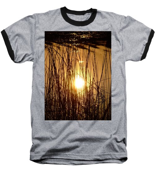 Evening Sunset Over Water Baseball T-Shirt