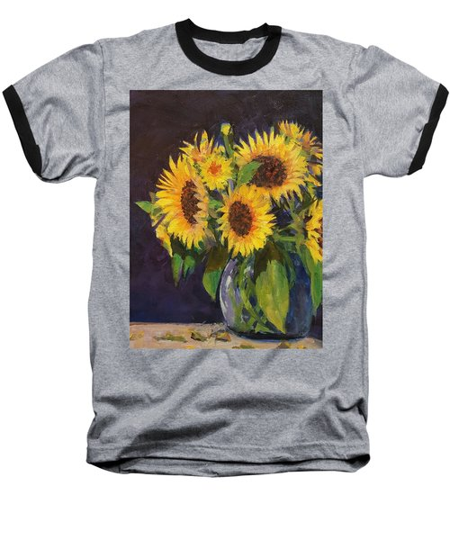Evening Table Sun Flowers Baseball T-Shirt