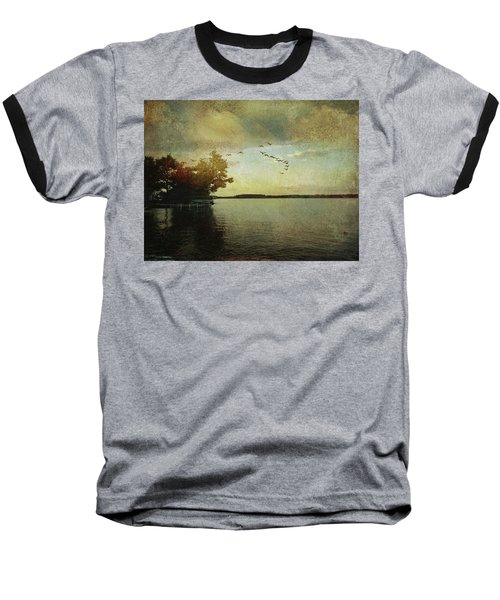 Evening, The Lake Baseball T-Shirt
