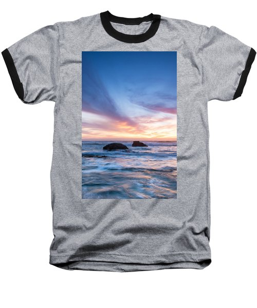 Evening Waves Baseball T-Shirt by Catherine Lau