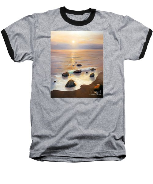 Baseball T-Shirt featuring the painting Eventide by Michael Rock