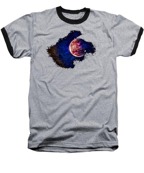Ever Changing Moon Color Waves Baseball T-Shirt