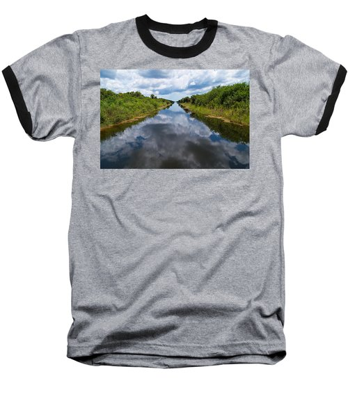 Everglades Canal Baseball T-Shirt by Christopher L Thomley