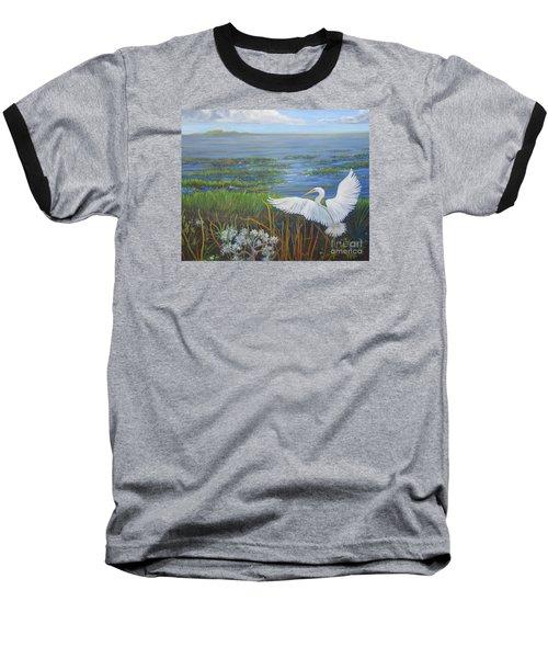 Everglades Egret Baseball T-Shirt