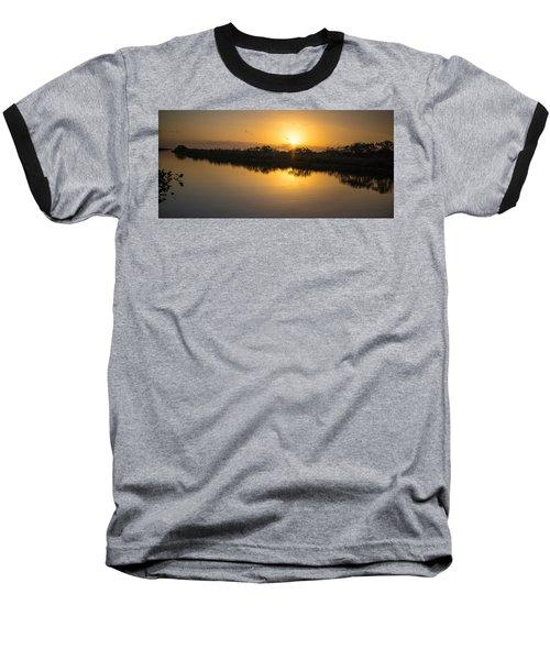 Everglades Sunset Baseball T-Shirt