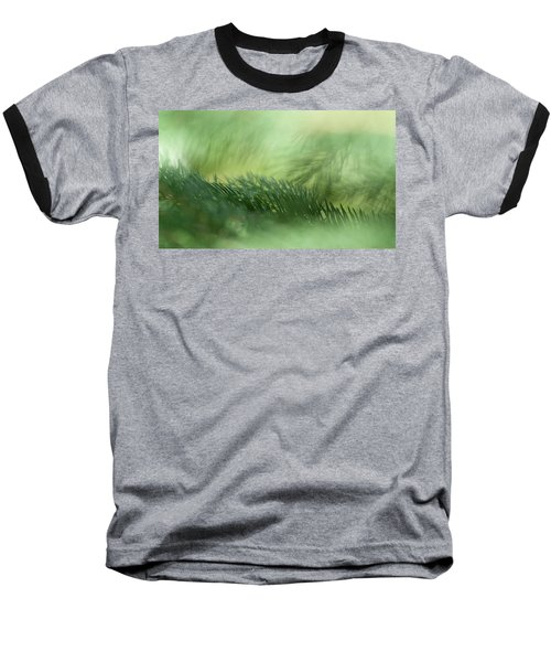Baseball T-Shirt featuring the photograph Evergreen Mist by Ann Lauwers