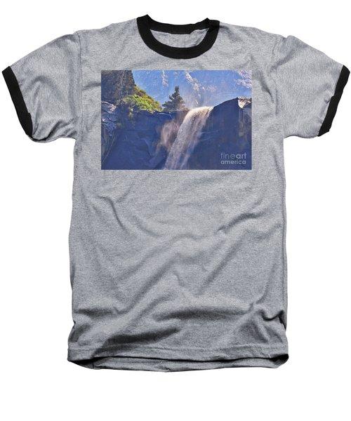 Evergreen Pines And Bridalveil Falls Baseball T-Shirt