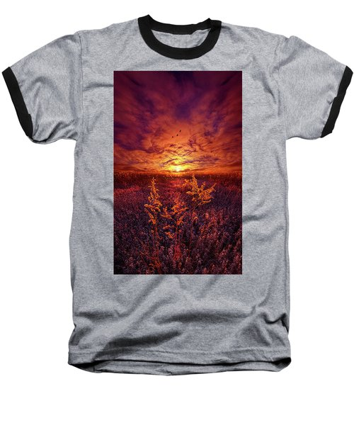 Baseball T-Shirt featuring the photograph Every Sound Returns To Silence by Phil Koch