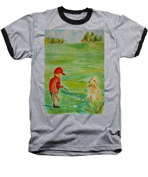 Everything Waits While I Golf Art Baseball T-Shirt
