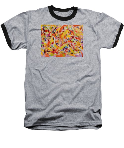 Everywhere There Are Fish Baseball T-Shirt by Lyn Olsen
