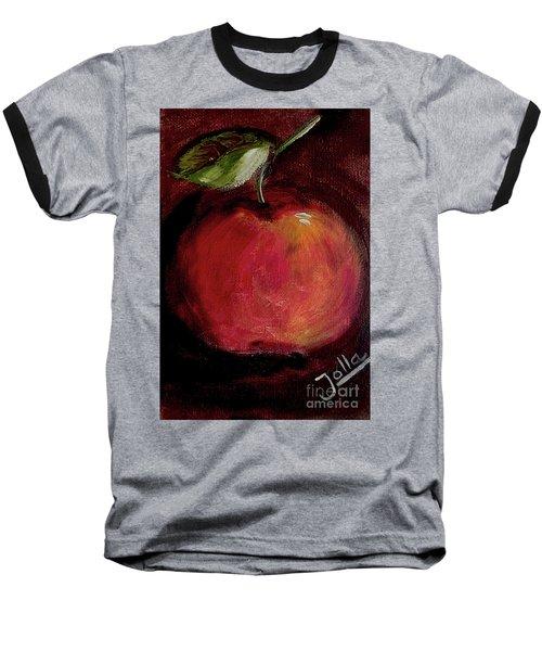 Baseball T-Shirt featuring the painting Eve's Apple.. by Jolanta Anna Karolska