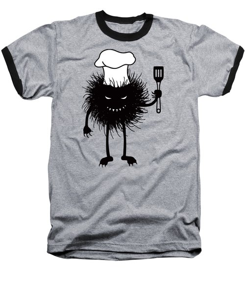 Evil Bug Chef Loves To Cook Baseball T-Shirt