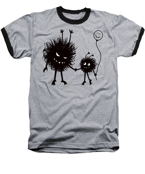 Evil Bug Mother And Child Baseball T-Shirt