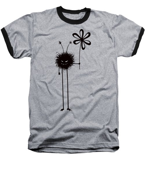 Evil Flower Bug Baseball T-Shirt