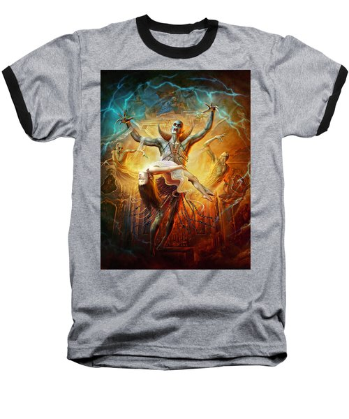 Evil God Baseball T-Shirt