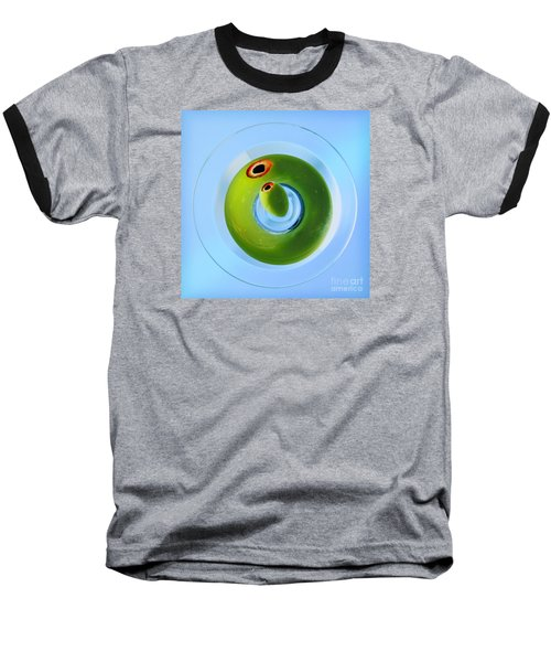 Baseball T-Shirt featuring the photograph Olive Eye by Martin Konopacki