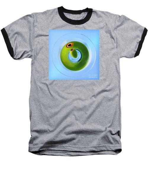 Olive Eye Baseball T-Shirt by Martin Konopacki