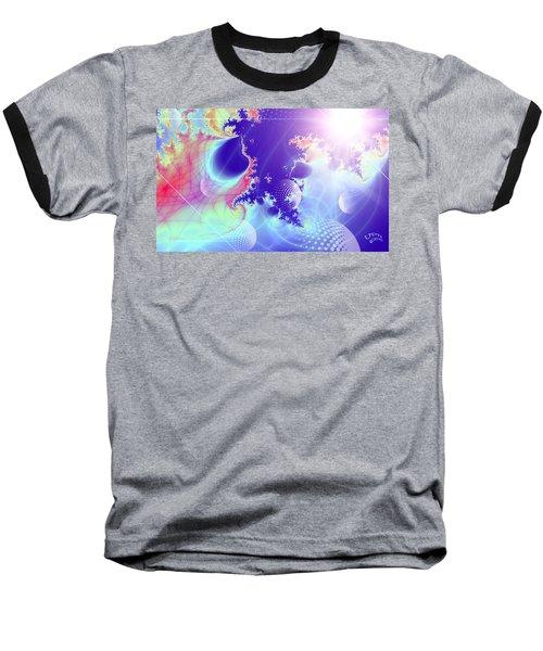 Baseball T-Shirt featuring the digital art Evolving Universe by Ute Posegga-Rudel