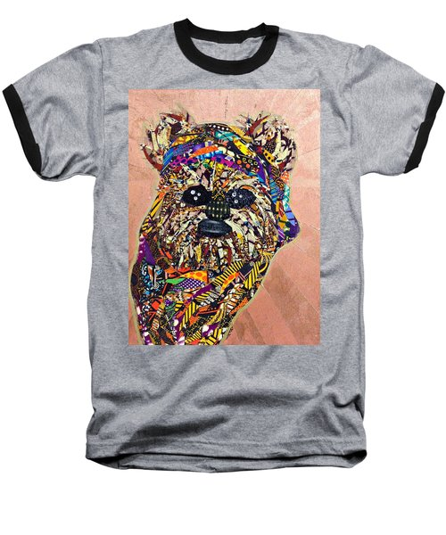 Baseball T-Shirt featuring the tapestry - textile Ewok Star Wars Afrofuturist Collection by Apanaki Temitayo M